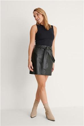NA-KD γυναικεία mini φούστα faux leather