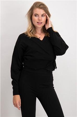 NA-KD γυναικεία πλεκτή μπλούζα κρουαζέ