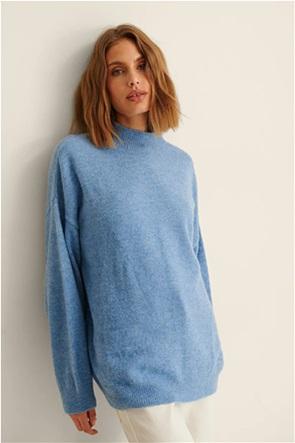 NA-KD γυναικείο πουλόβερ μονόχρωμο με ψηλό λαιμό