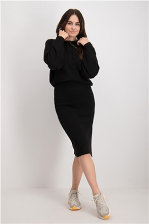 NA-KD γυναικεία φούστα πλεκτή με άνοιγμα στο πλάι