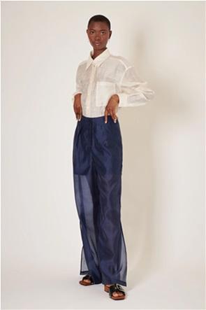 "Ghospell γυναικεία ψηλόμεση παντελόνα με διαφάνεια ""Strategy"""