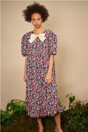"Sister Jane γυναικείο midi φόρεμα oversized με floral print ""Bramble"""