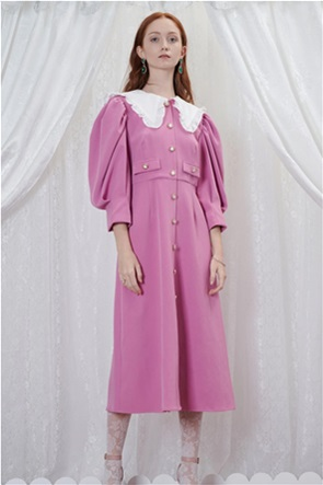 "Sister Jane γυναικείο midi φόρεμα με μεγάλο γιακά ""Candies"""