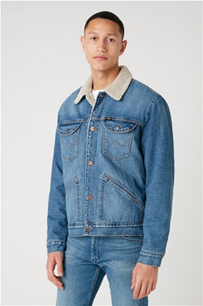 "Wrangler ανδρικό denim jacket με flap τσέπες ""Icons 124mj Sherpa"""