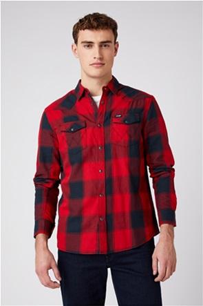 """Wrangler ανδρικό πουκάμισο με καρό σχέδιο """"Western"""" Regular Fit"""