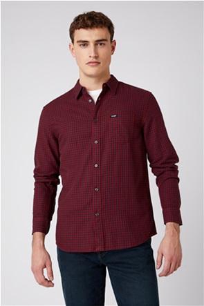 """Wrangler ανδρικό πουκάμισο με καρό σχέδιο """"One Pocket"""" Regular Fit"""