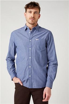 """Wrangler ανδρικό πουκάμισο με ριγέ σχέδιο """"One Pocket Regular Fit"""""""