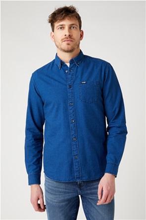 """Wrangler ανδρικό πουκάμισο μονόχρωμο """"One Pocket Regular Fit"""""""