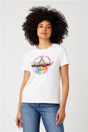 Wrangler γυναικείο T-shirt με graphic logo print Regular Fit