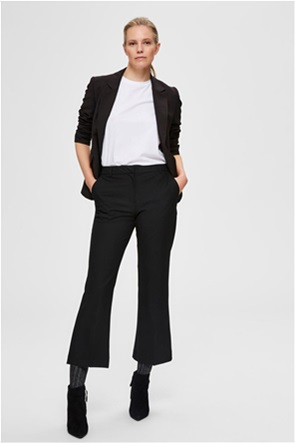 Selected γυναικείο παντελόνι cropped Flared Fit