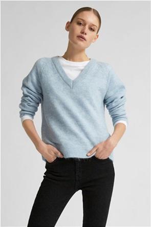 Selected γυναικείο πουλόβερ μονόχρωμο με V λαιμόκοψη