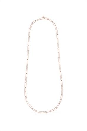 TOUS γυναικείο τσόκερ TOUS Chain με κλιπ από Ροζ Ασήμι Vermeil