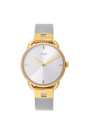 TOUS γυναικείο ρολόι Let Mesh από δίχρωμο/επιχρυσωμένο Ατσάλι