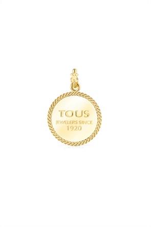 "TOUS γυναικείο μενταγιόν TOUS Minne από Ασήμι Vermeil με χαραγμένο ""TOUS Jewelers since 1920"""