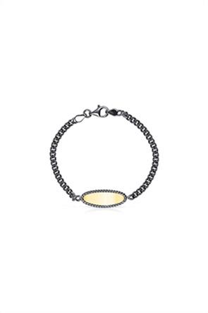 TOUS γυναικείο βραχιόλι δίχρωμο Minne από Ασήμι Dark Silver και Ασήμι Vermeil