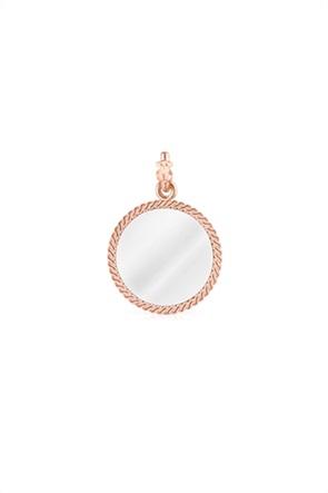 TOUS γυναικεία μενταγιόν δίχρωμο Minne από Ασήμι και Ροζ Ασήμι Vermeil