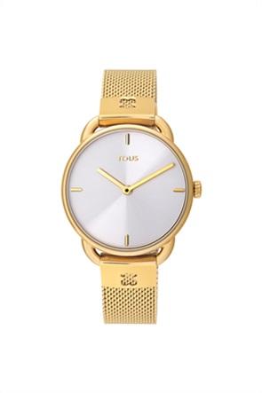 TOUS γυναικείο ρολόι Let Mesh από επιχρυσωμένο Ατσάλι