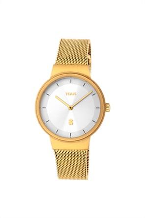 TOUS γυναικείο ρολόι Rond Mesh από Επιχρυσωμένο Ατσάλι