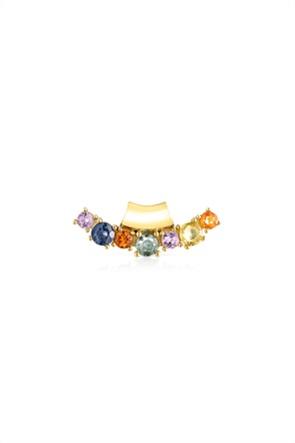 TOUS γυναικείο μενταγιόν Glaring από Ασήμι Vermeil με πολύχρωμα Ζαφείρια