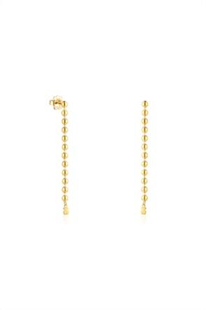 TOUS γυναικεία μακριά σκουλαρίκια Gloss από ασήμι vermeil