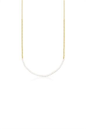 TOUS γυναικείo τσόκερ Gloss από ασήμι vermeil με μαργαριτάρια