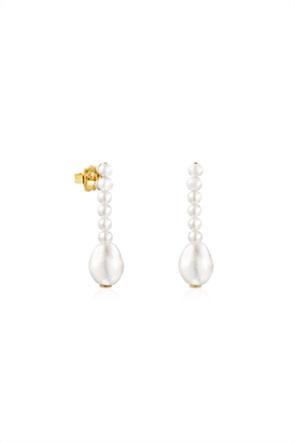 TOUS γυναικεία σκουλαρίκια Gloss με μαργαριτάρια