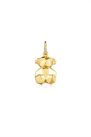 TOUS γυναικείo μενταγιόν Sketx με αρκουδάκι από χρυσό με διαμάντια