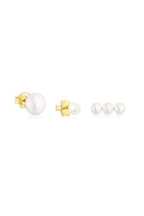TOUS γυναικείo σετ σκουλαρίκια Gloss με μαργαριτάρια